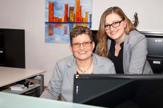 Sandra Pönnighaus und Maria Beck